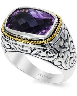Amethyst 18k Yellow Goldplated Sterling Silver Ring