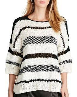 Boxy Stripe Cotton-blend Sweater