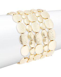 Multi-row Stretch Disc Bracelet