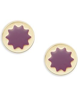 Sunburst Amethyst Postback Earrings