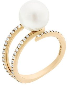 White Pearl Embellished Ring