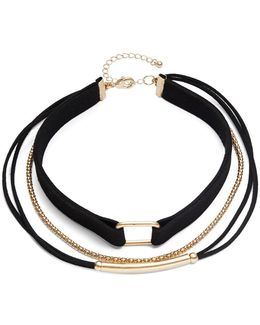 Three-row Choker Necklace