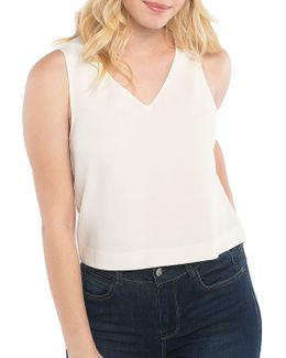 Love Poetry Stretch Crepe Sleeveless Top