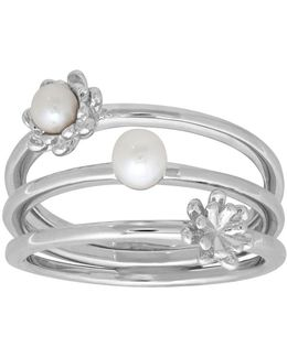 3.5 - 4.5 Mm Freshwater Pearl And Silver Ring
