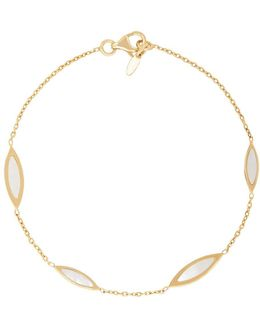 Mother Of Pearl And 14k Yellow Gold Tincup Necklace