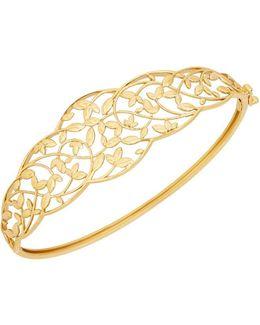 Richline 14k Yellow Gold Leaves Design Bangle