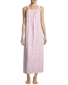 Printed Knit Sleeveless Nightgown