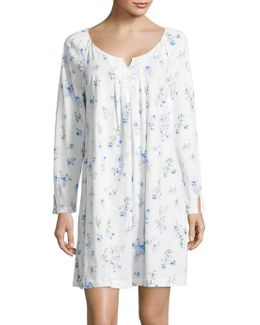 Floral Printed Night Gown