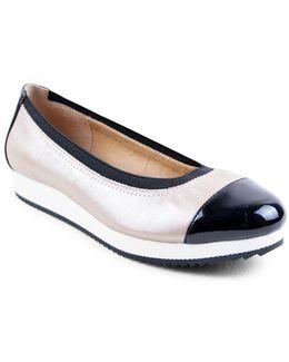 Gilsa Cap Toe Leather Platform Slip-ons