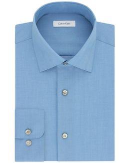 Regular-fit Solid Cotton Dress Shirt