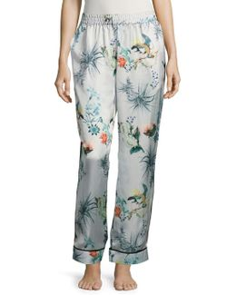 Bird Graphics Wide Leg Pants