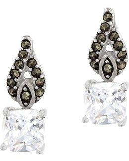 Marcasite Sterling Silver Teardrop Earrings