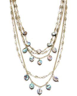 Mother-of-pearl Layered Necklace
