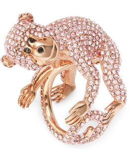 Rambling Rosescrystal Pave Monkey Ring