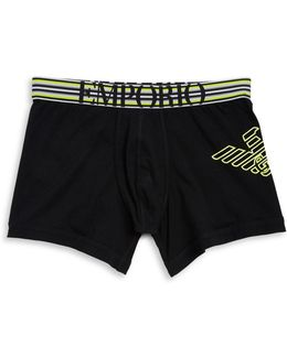 Logo Embroidered Boxer Shorts