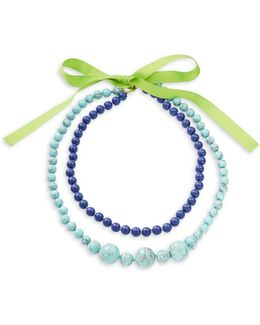 Two Row Beaded Necklace