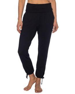 Foldover Ankle Tie Skinny Pants