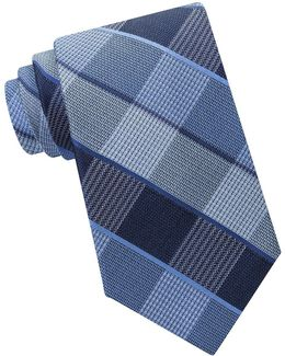 Plaid Textured Tie