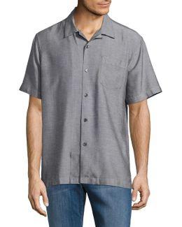 Ocean Oxford Silk Sportshirt