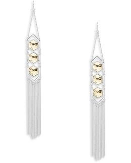 Two-tone Geometric Earrings