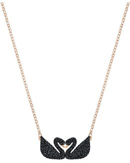 Iconic Double Swan Pendant Necklace
