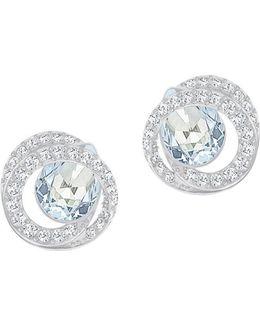 Crystal Twisted Generation Pierced Earrings