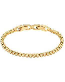 Emily 23k Gold-plated Crystal Studded Bracelet