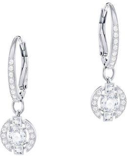 Sparkling Dance Crystal Studded Hoop Earrings- 0.88in