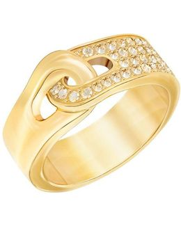 Gallon 23k Goldplated And Crystal Pvd Ring