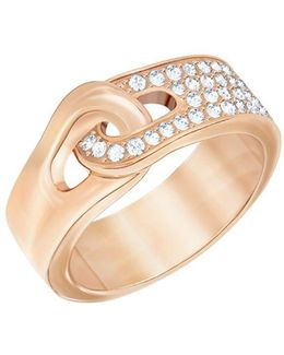 Gallon 18k Rose Goldplated And Crystal Pvd Ring