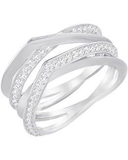 Genius Rhodium And Crystal Ring