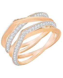 Genius Crstal Pave Rose Goldtone Ring