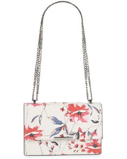 Mara Floral Leather Shoulder Bag