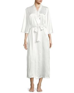 Ankle-length Satin Robe