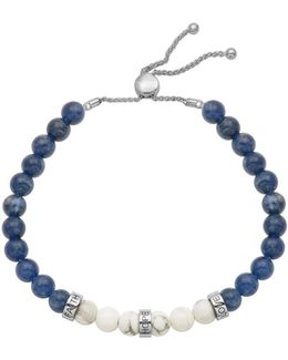 Delancey Howlite, Sodalite And Rhodium Plated Sterling Silver Bracelet