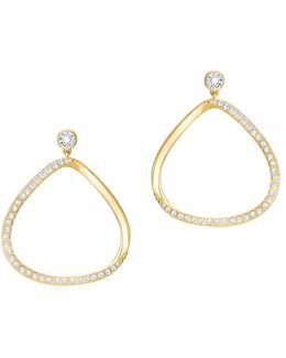 Crystal & 23k Gold-plated Drop Earrings
