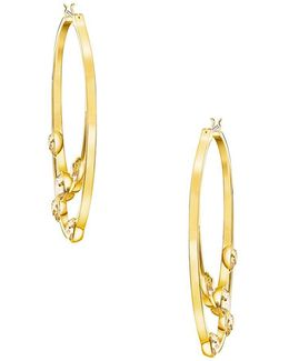 Gaze Hoop Pierced Hoop Earrings-2-inch