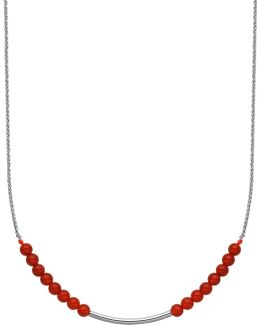 Red Agate & Sterling Silver Necklace