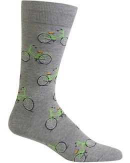 Bicycle Printed Socks