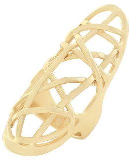 Banded Goldtone Ring