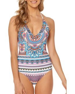 Versailles Lace Back One-piece Maillot