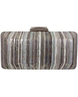 Metallic Striped Convertible Clutch