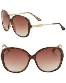 64mm Oversized Square Sunglasses