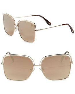 62mm Square Sunglasses