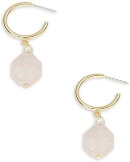 Faceted Semi-precious Drop Earrings