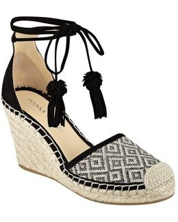 Wadia Suede D Orsay Espadrille Wedges