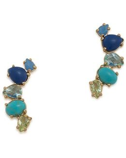 Semi-precious Stud Earrings