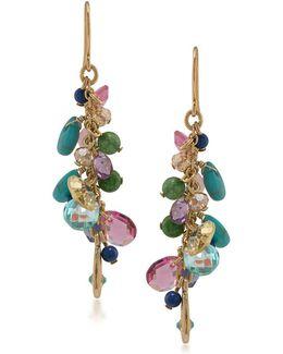 Semi-precious Linear Drop Earrings