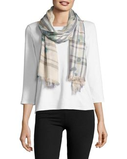 Fraas Plaid Patterned Scarf