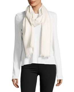 Fringe Accented Wrap Scarf